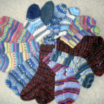 Схемы вязания носков спицами