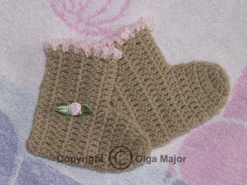 пинетки крючком для начинающих схема вязание спицами