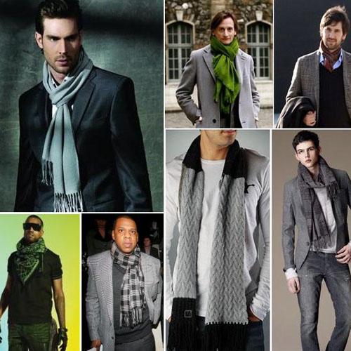 Мужские шарфы. Способы завязывания шарфов