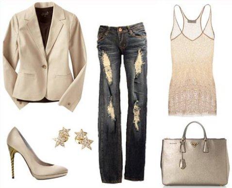 Как одеваться стильно: платье, сумка, обувь. Бежевый цвет (телесный, кремовый)