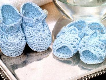 Пинетки-туфельки. Вязание пинеток крючком