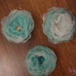 Цветы из органзы. Мастер-класс