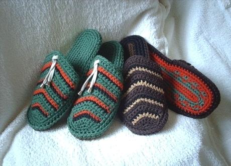 вязание тапочек на спицах,