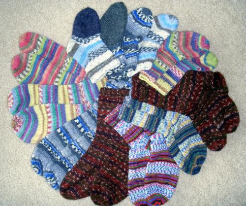 Вязание носков на спицах