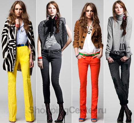 С чем модно носить джинсы. Коллекции Dsquared2 и Love Moschino