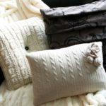 Чехлы для подушек из старых свитеров. Мастер-класс